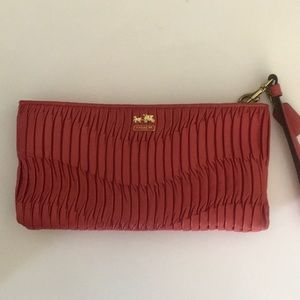 Beautiful quilted leather Coach Wristlet wallet